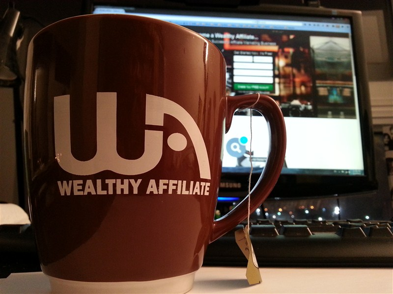 image of wealthy affiliate coffee mug